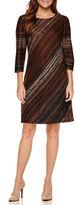 Studio 1 3/4 Sleeve Sweater Knit Sheath Dress