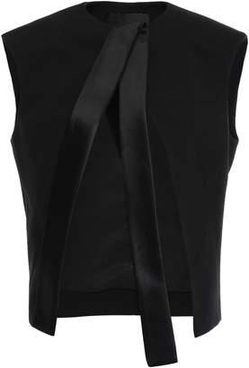 Haider Ackermann Satin-trimmed Wool-blend Vest