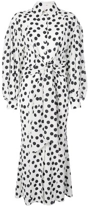 Carolina Herrera Polka Dot Shirt Dress
