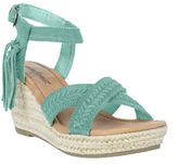 Minnetonka Naomi Suede Espadrille Wedge Sandals