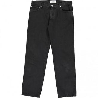 MSGM Black Cotton Jeans
