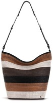 Elliott Lucca Marin Woven Leather Fringe Hobo Bag