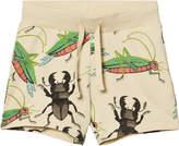 Mini Rodini Beige Insects Sweatshorts