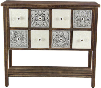 Uma Enterprises Rustic 8-Drawer Sideboard Table