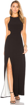 Halston Sleeveless Cut Out Gown