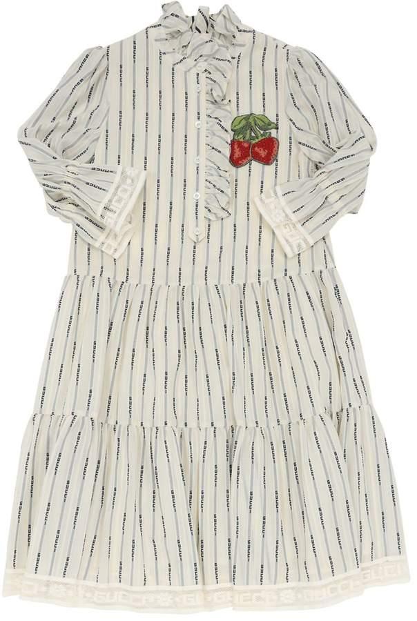 Gucci LOGO JACQUARD COTTON DRESS