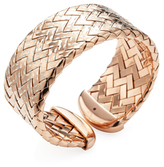 Roberto Coin Polished Rose Gold-Plated Silver Woven Bangle Bracelet