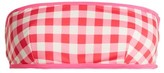 Solid & Striped The Kate Bandeau Gingham Bikini Top - Womens - Pink
