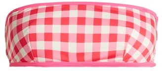 Solid & Striped The Kate Bandeau Gingham Bikini Top - Womens - Pink