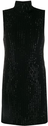 Ermanno Scervino Embellished Knitted Mini Dress
