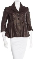 Louis Vuitton Leather Quilted Jacket