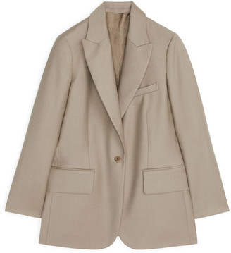 Arket Wool Flannel Blazer