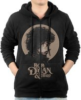 Adtyjguh Men's Full Zip Bob Dylan Folk Blues Rock Music Hoodie With Pouch Pocket