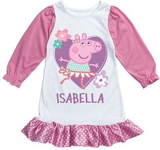 Peppa Pig TV's Toy Box Girls' Sleep Tops Pink Pink Personalized Nightgown - Girls