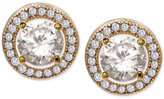 Giani Bernini Cubic Zirconia Halo Stud Earrings in 18k Gold-Plated Sterling Silver, Only at Macy's