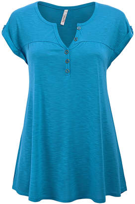SBS Fashion Fashion Women's Tee Shirts Jade - Jade Button-Front Swing Tunic - Women