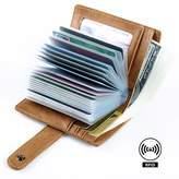 Pabin RFID Blocking Leather Business Card Holder for men 20 Credit Card Slots Vintage
