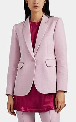 Sies Marjan Women's Mason Iridescent One-Button Blazer - Pink