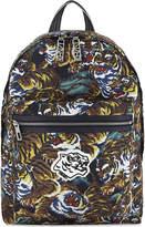 Kenzo Black&yellow Printed Luxury Flying Tiger Backpack