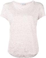 Frame knitted stripe t-shirt - women - Linen/Flax - XS