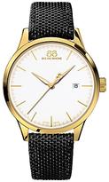 88 Rue du Rhone 87WA154110 Men's Rive Nato Fabric Strap Watch, Black/White