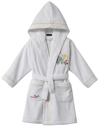Catimini e701-0400-3790501-ka Ile Aux Fleurs Bath Robe for Girls White