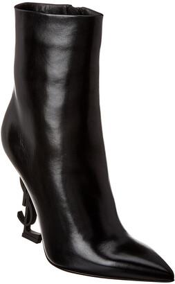 Saint Laurent Opyum 100 Leather Bootie