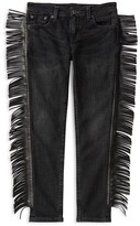 Ralph Lauren Girls' Side Fringed Ankle Jeans - Sizes 7-16