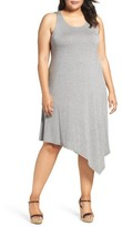 Sejour Plus Size Women's Asymmetrical Jersey Midi Dress