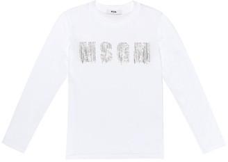 Msgm Kids Embellished cotton T-shirt