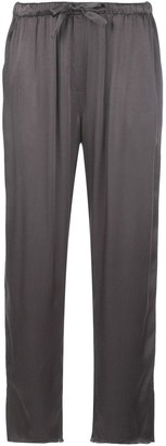Raquel Allegra Slate high rise cropped trousers