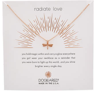 Dogeared Reminder Collection 14K Rose Gold Over Silver Necklace