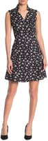 Alexia Admor Notch Collar Floral Fit & Flare Dress