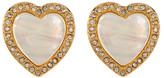 Carolee Halo Heart Clip-On Earrings