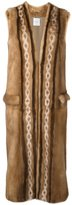 Agnona diamond intarsia sleeveless coat