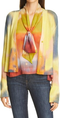 le superbe Sunrise Crop Wool & Cashmere Cardigan
