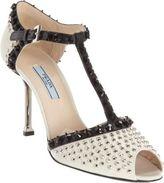 Prada Embellished T-Strap Sandal
