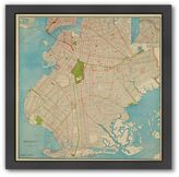 "Americanflat ""1905 Brooklyn Map"" Matted Framed Wall Art"