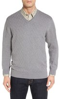 Cutter & Buck Men's 'Benson Grove' Raker V-Neck Sweater