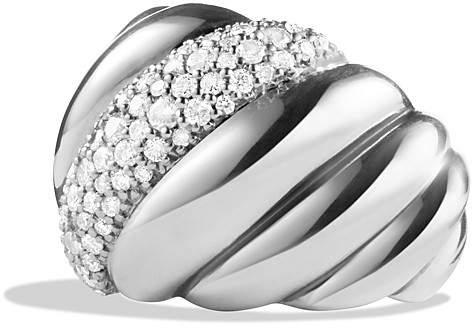 David Yurman Hampton Cable Ring with Diamonds