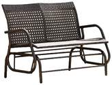 Christopher Knight Home Maui Swinging Wicker Patio Bench - Brown