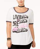 Hybrid Trendy Plus Size Livin The Dream Barbie Graphic T-Shirt