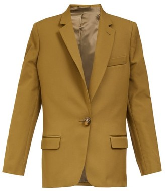 ATTICO Oversized Single-button Blazer - Khaki