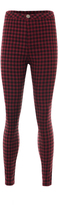 Missy Empire Edie Wine Check Skinny Jeans