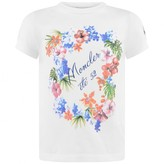 Moncler MonclerBaby Girls Ivory Floral Print Top