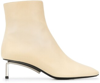 Off-White Metallic-Heel 55mm Ankle Boots