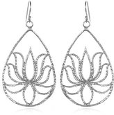 Satya Jewelry Sterling Silver Lotus Teardrop Earrings