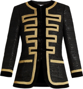 Givenchy Embroidered-edge tweed jacket