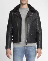 Schott NYC Detachable Collar Leather Perfecto Jacket