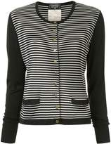 Chanel Pre Owned 1995 striped cardigan
